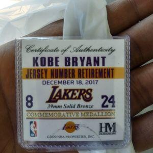 Kobe & Gigi Shirt & Hat authentic also MEDALLION